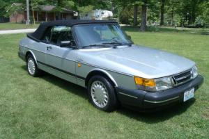 1987 SAAB 900 TURBO 5-SPEED CONVERTIBLE POWER TOP WITH TONEAU COVER VERY NICE!!!