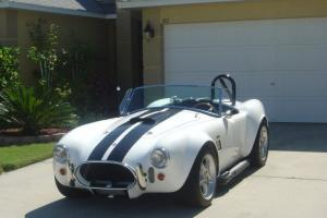 Unique White w/Black stripes 1965 Shelby Cobra replica