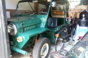 1968 ORIGINAL ENGLISH MORRIS MINI MOKE IN SPRUCE GREEN