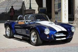 Shelby Cobra Replica, 1965, Metallic Blue/ racing stripes, excellent condition
