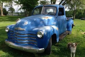 Hard to find 1949 Barn find 3100 dark blue,rat rod,patina,shop truck chevrolet