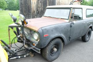 1968 International Harvester Scout 800 V8 with Plow
