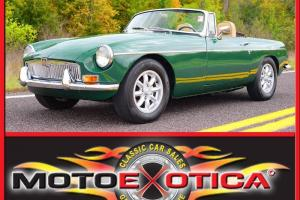 1969 MG MGB British Racing Green-5 Speed-Chrome Bumpers- This is the one!!!