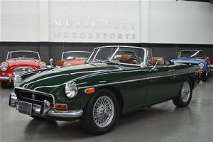 ONE OWNER BRITISH RACING GREEN CHROME BUMPER MGB with RECORDS