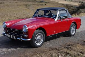 1972 MG Midget, 1275cc RWA, Heritage shell rebuild with only 3000 miles since