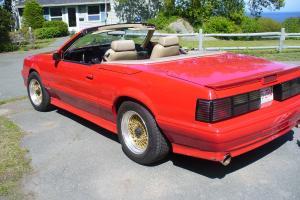 1987 Mustang Mclaren convertible #456 Auto. Red with beige interior