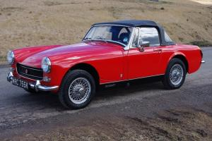 1972 MG Midget, 1275cc RWA, Heritage shell rebuild with only 2400 miles since