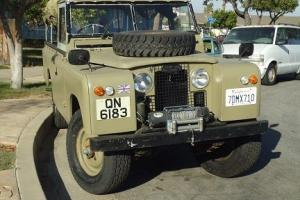 This is a 1967 Land Rover Series 2A/ 109  2-door 4x4 Truck Photo