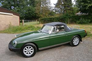 1975 ' P ' MGB 1.8 ROADSTER IN BROOKLANDS GREEN/CREAM LEATHER ** SHOW WINNER **