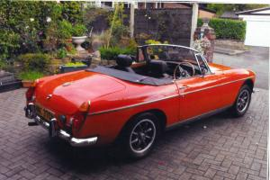 red mgb roadster