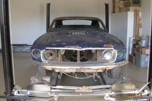 "1969 MACH 1 428 COBRA JET PROJECT - BLACK JADE EXT/BLACK INT ""Q"" CODE"