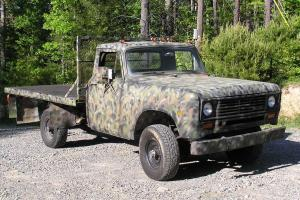 1974 International 4x4 Pick-Up  Flat Bed w/PLOW Low Miles USAF NO RESERVE