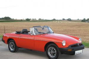 1977 S - MG B Roadster - Vermillion Red