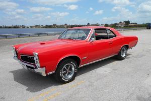 1966 GTO 400,4spd,Red, Black int PHS DOCS