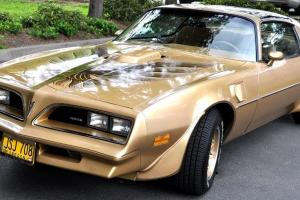 1978 Pontiac Trans Am Y88 Gold Special Edition 4 speed manual 53,000 miles