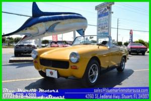 Austin Healey Sprite convertible 4 speed manual fun to drive sporty roadster