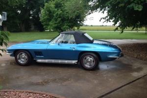 1967 Corvette Convertible Blue/Blue #'s matching  Documentation
