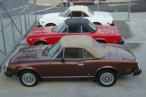 3 fiat 124 spyders as package deal all in good condition