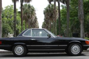 1983 Mercedes Benz 500SL Euro One Owner Black Over Cream Convertible