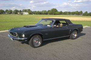 1969 MUSTANG GT CONVERTIBLE 390 S-CODE    roush shelby fastback gas garage