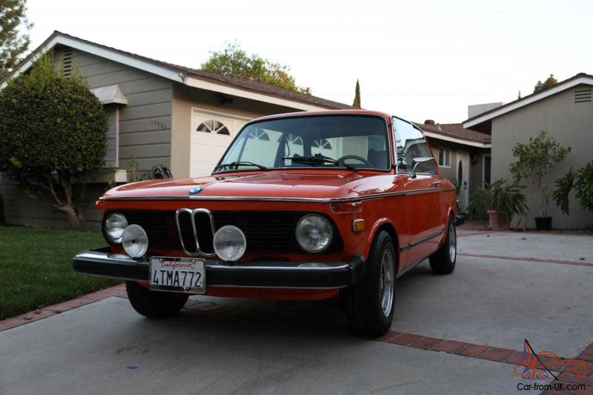 1974 Bmw 2002tii Inka Orange Clean No Accident Complete Restoration