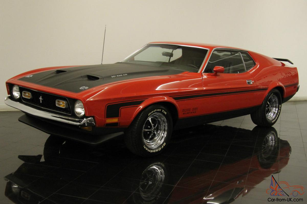 1971 ford mustang boss 351 fastback 1 of 1806 numbers matching marti report