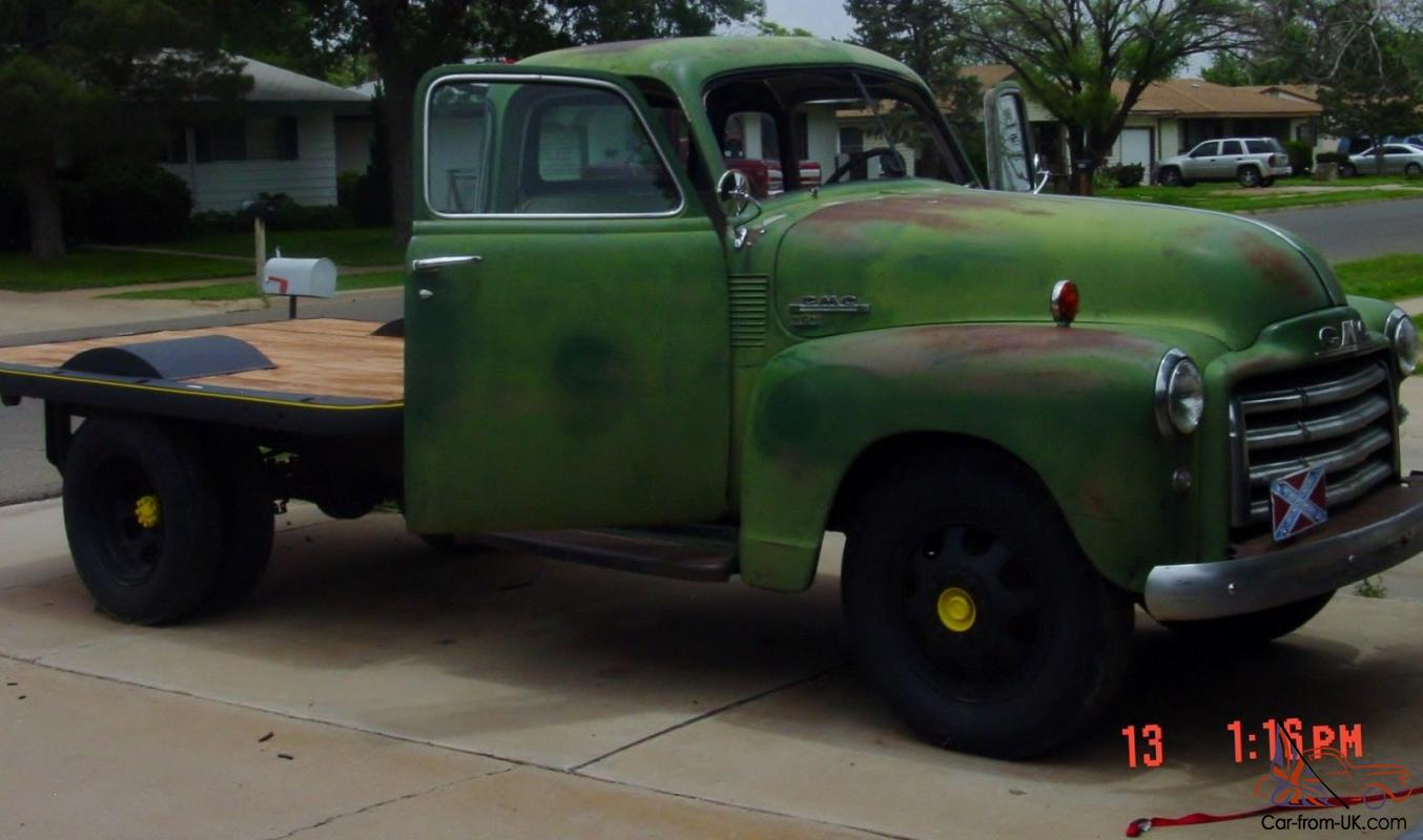 1950 Gmc 250 Truck 1 Ton Dually Flat Bed Includes Lots Of New Parts