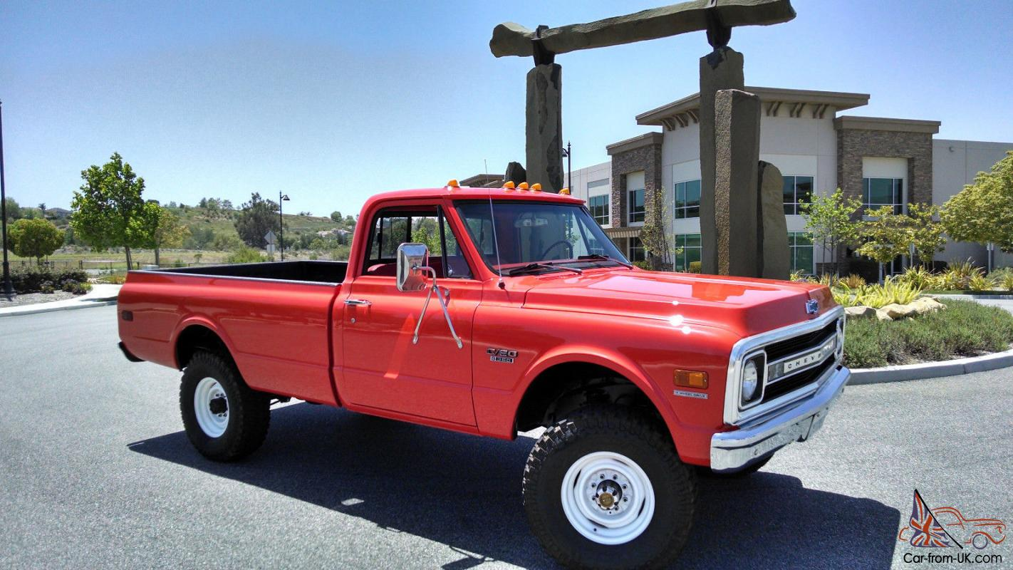 1970 Chevrolet K20 C20 Pickup Truck Fire 4x4