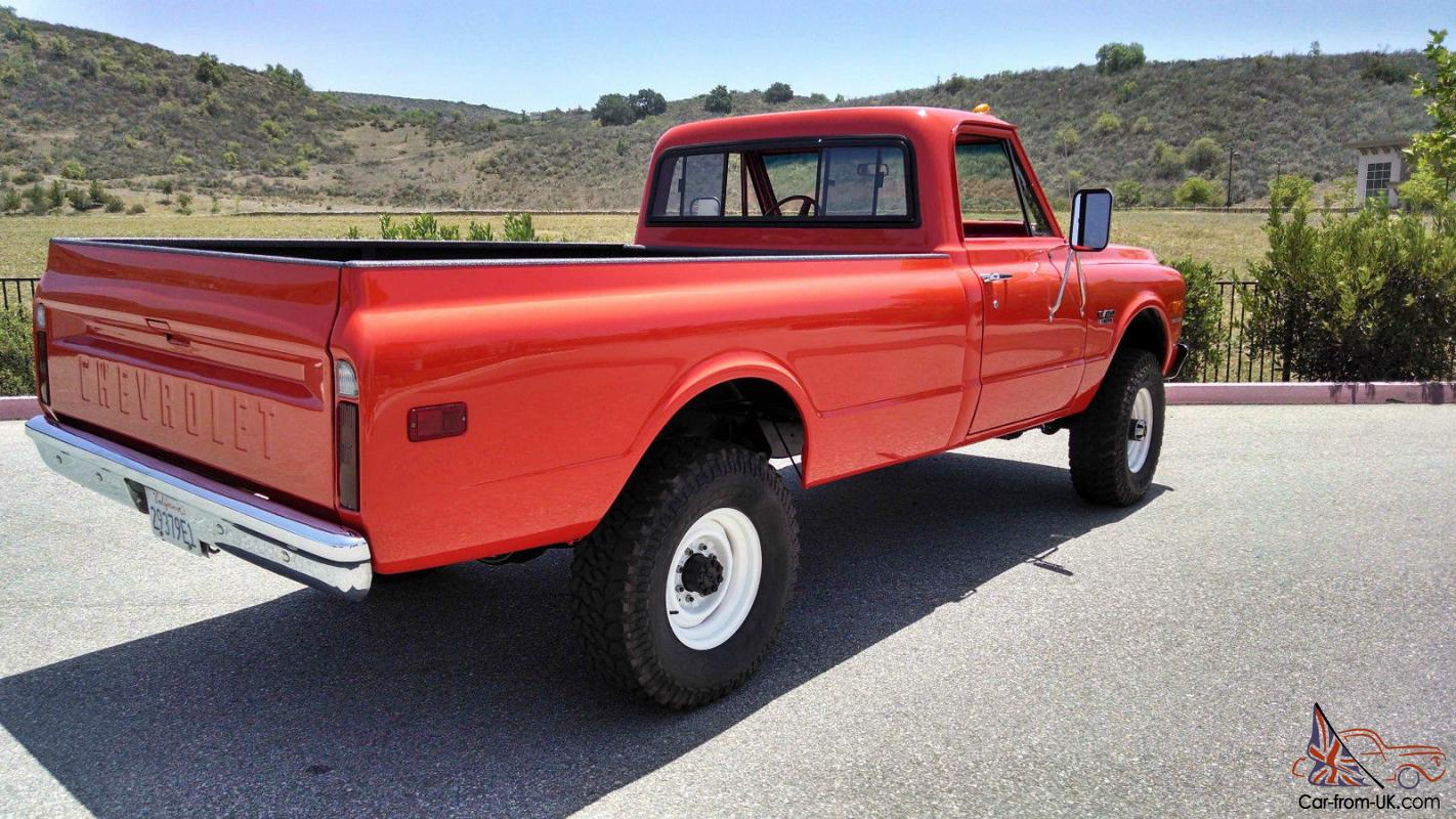 1968 Chevy Truck Lifted 1970 Chevrolet K20 C20 Pickup Fire 4x4