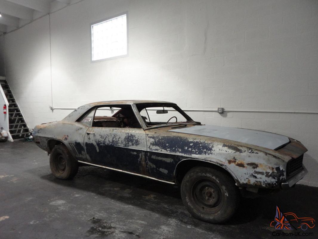 camaro barn 1969 z28 project rs rare very
