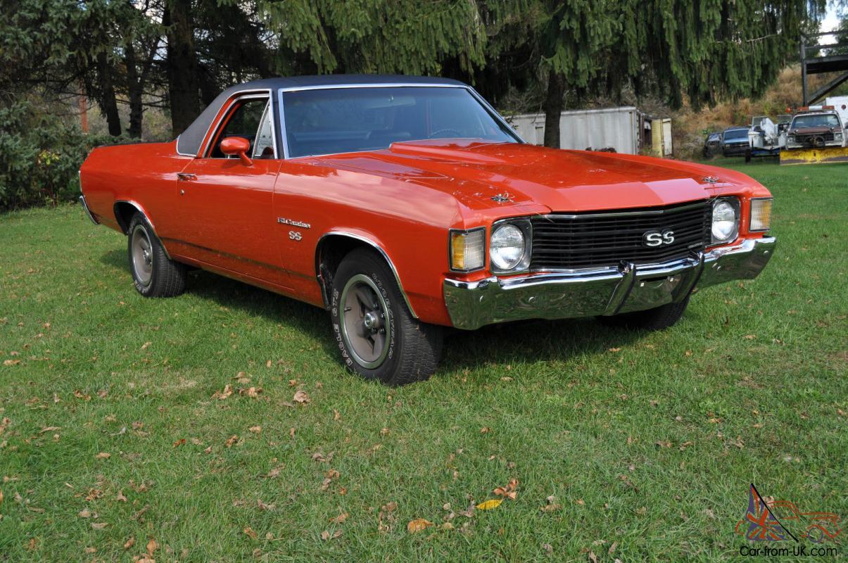 All Chevy 1972 chevy 402 engine specs : Chevy Chevelle Elcamino SS Big Block 402 CI 22,484 Original Miles !!