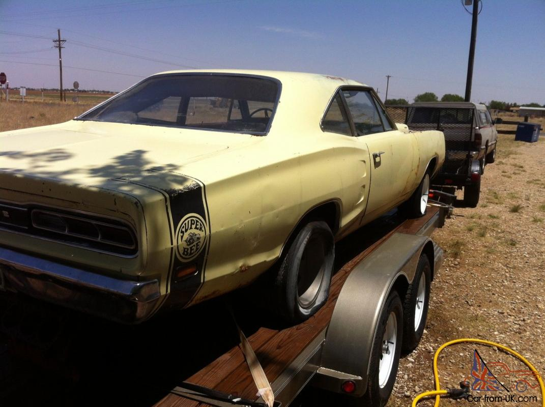 1969 Dodge Superbee with New Car Trailer included