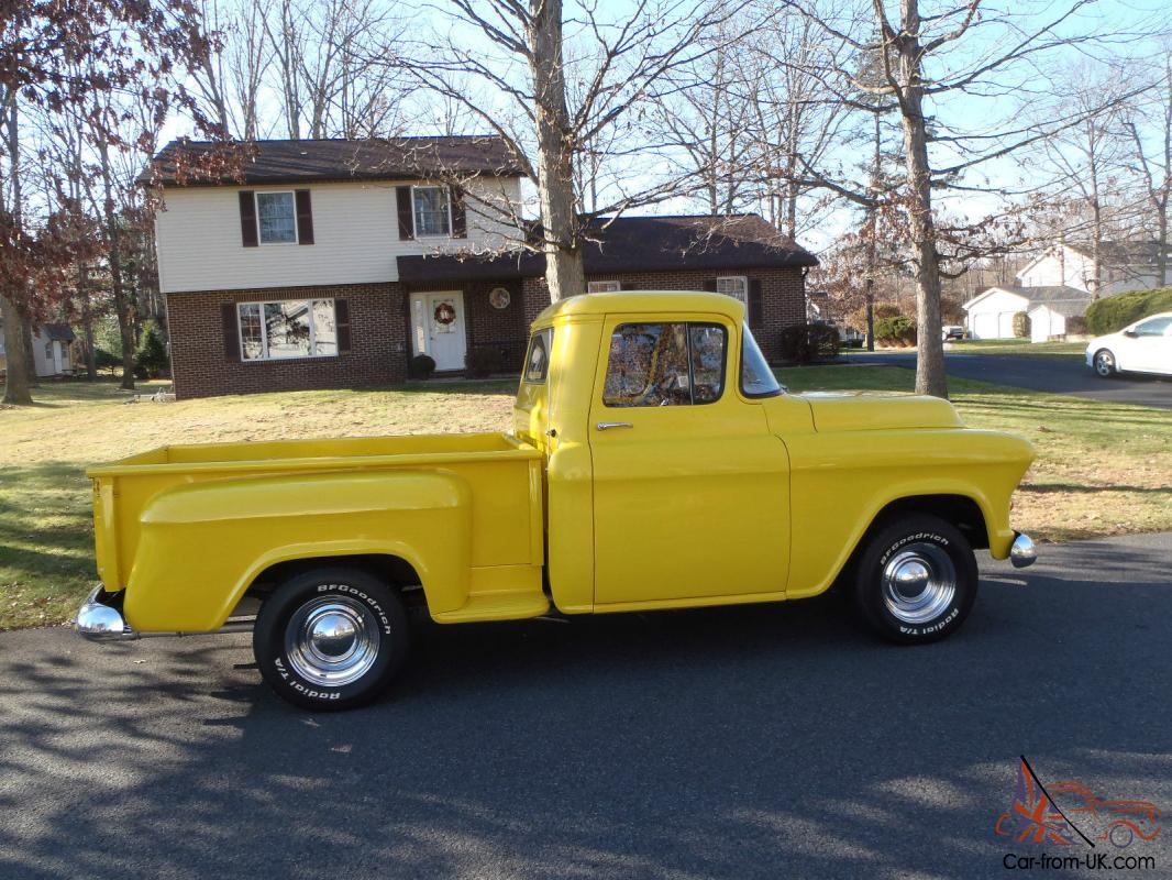 Truck 57 chevy truck bed wood : CHEVROLET 3100 PICK UP - SHORT BED - STEP SIDE CHEVY TRUCK