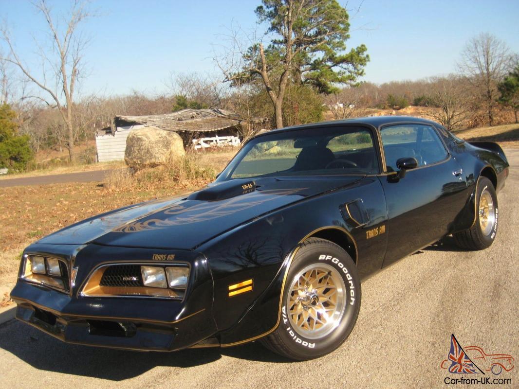 78 Pontiac Trans Am 6 6 400ci V8 Auto Black Gold Fresh Paint A C 1000 S Spent