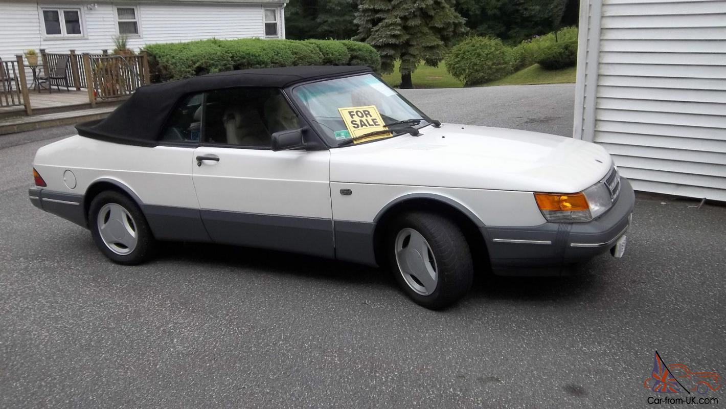 1989 Saab 900 Convertible Turbo 5 Sd Lots New Pearl White Paint Spg