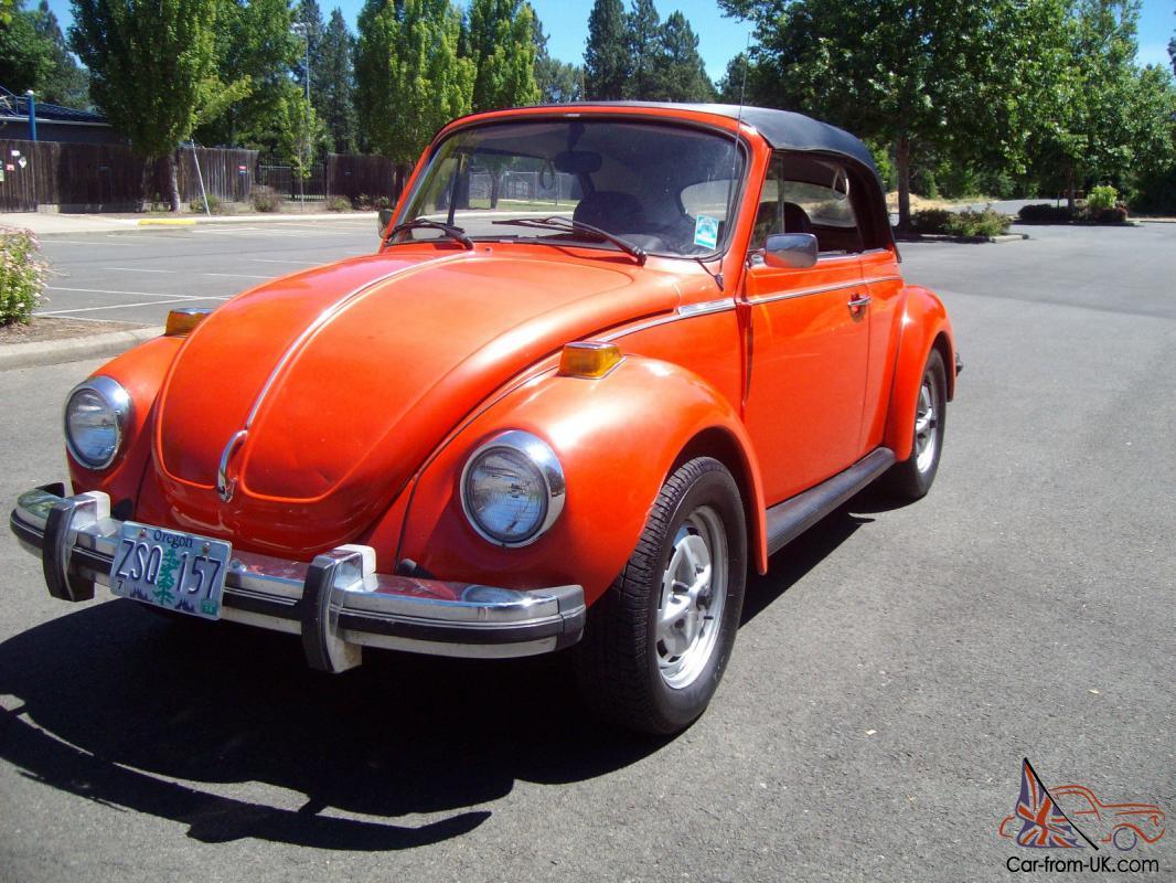 1979 Volkswagen Super Beetle Convertible 2