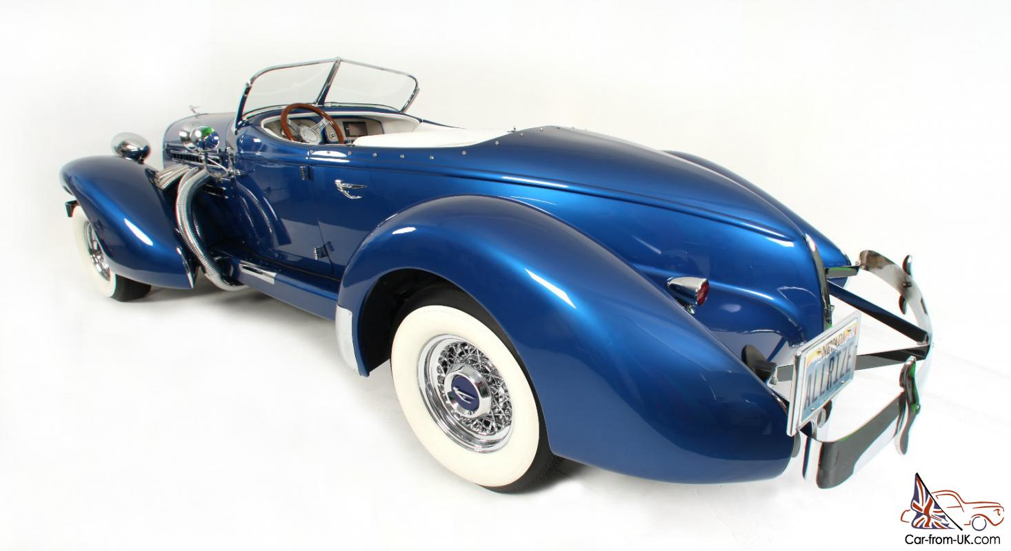 1936 Auburn Boattail Speedster Classic Car In Showroom