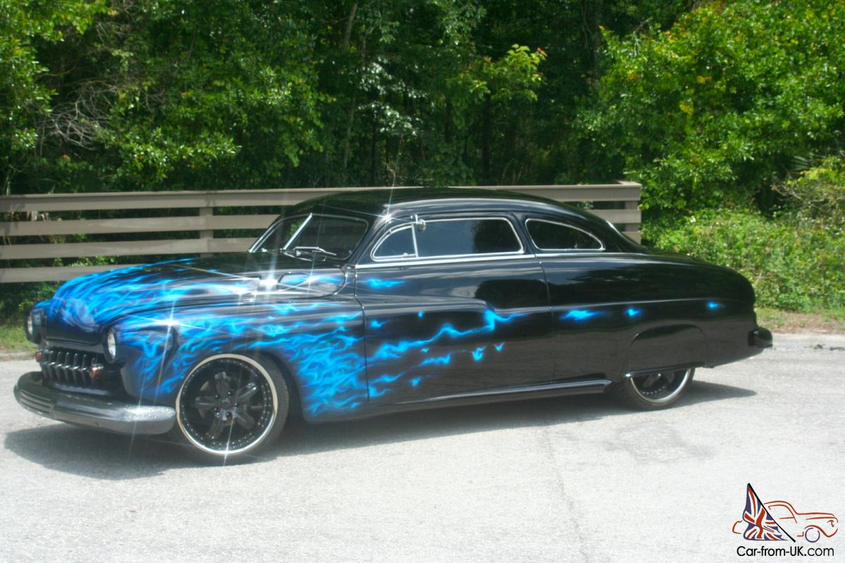 1949 Mercury Coupe Chopped Top Lead Sled Shaved Dropped Custom Ford Crown Victoria Paint 50 51