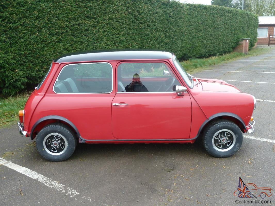 1966 Austin Mini Cooper Red Black