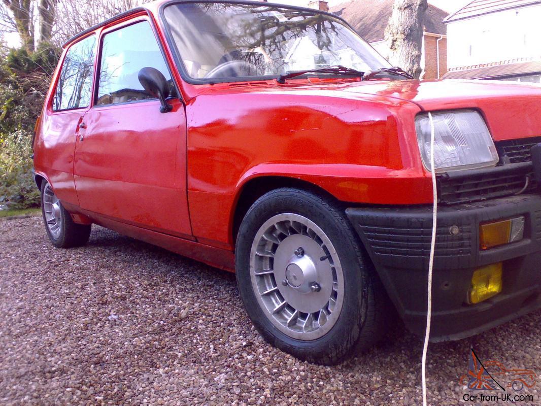 1981 Renault 5 Gordini Alpine Solid Car Huge Folder Turbo Alloys Classic