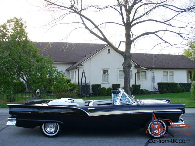 GORGEOUS - RESTORED - RARE 1957 FORD FAIRLANE 500 SUNLINER CONVERTIBLE WOW  !!