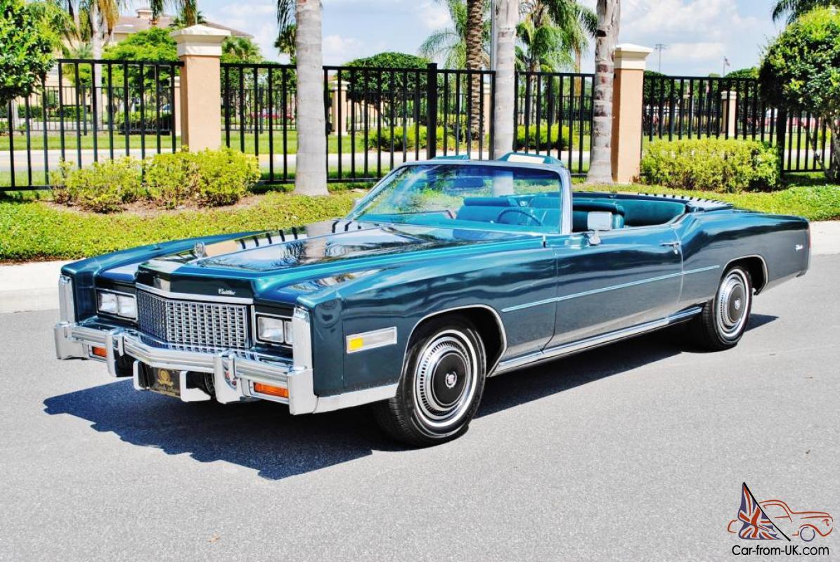 New Cadillac Eldorado >> Basicly Brand New Just 5 922 Miles 76 Cadillac Eldorado Convertible Rare Colors