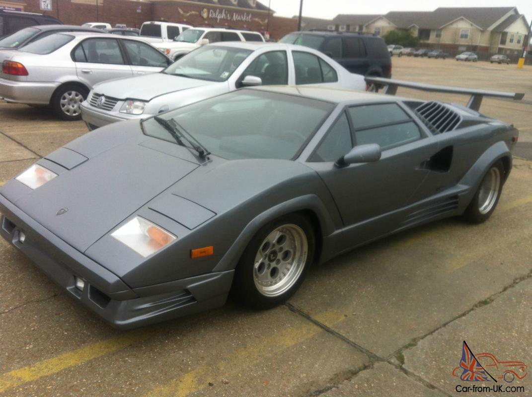 1989 Lamborghini Countach 25th Anniversary Iconic Car Rare Silver Color