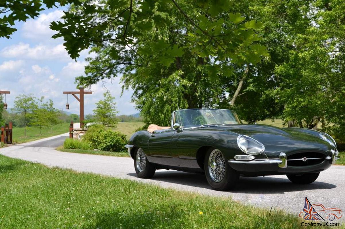 Stunning 1964 Series 1 Jaguar Xke Ots Roadster Green With Biscuit Interior