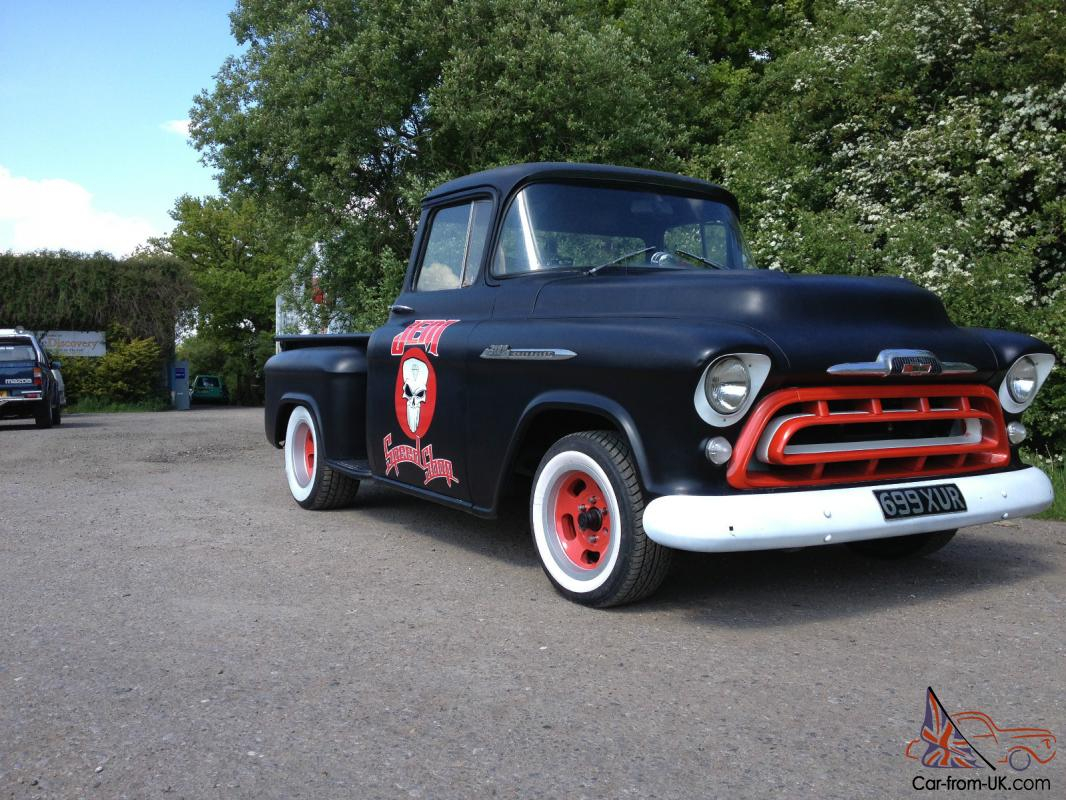 1957 Chevy Stepside Chevrolet 3100 Pickup Truck 4 Door
