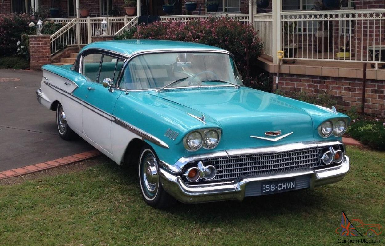 All Chevy 58 chevy bel air : Belair 1958 Pillarless 4 Door Hardtop 350CI Auto 55 56 57 LHD NSW ...