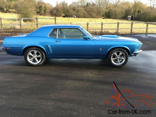 Ford Mustang 1969 COUPE BLUE 351 WINDSOR V8 STUNNING EXAMPLE1969 Mustang Coupe Blue