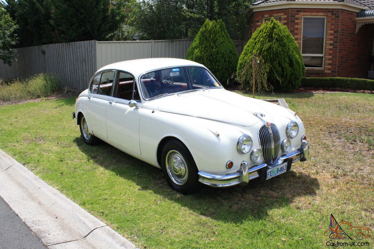 1964 Jaguar Mark 2 3 4LITER 3 Speed Auto OLD English White ...