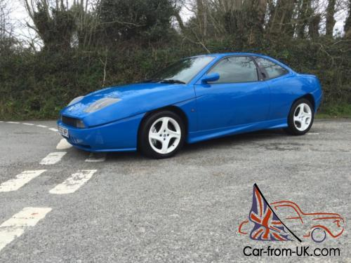 1999 T Fiat Coupe 20v Turbo Sprint Blue Low Mileage Lovely Condition