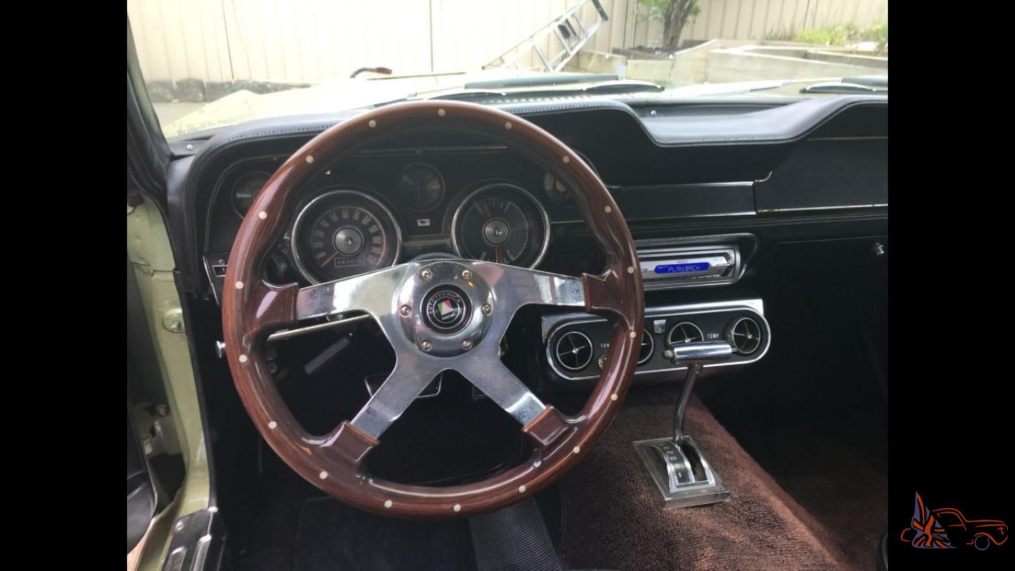 1968 Ford Mustang GT V8 390 Genuine S Code Matching Numbers XY XW Monaro  Torana